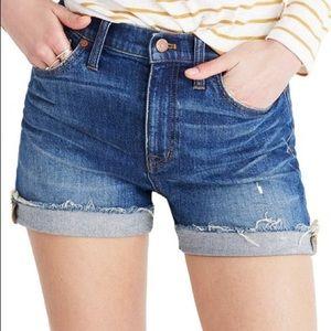 "Madewell 9"" High Rise Jean Shorts"